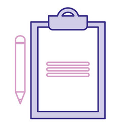 clipboard document with pencil vector image