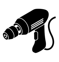 Corded drill icon simple style vector