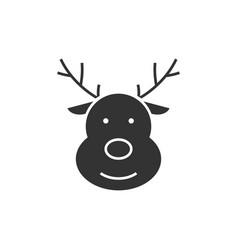Deer black icon vector