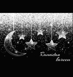 Eid celebration ornament vector