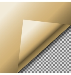 Folded up gold foil blank note paper vector image