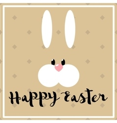 Happy easter poster with hare vector image vector image