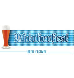 Horizontal banner for beer festival oktoberfest vector