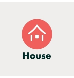 Icon house abstract silhouette vector image