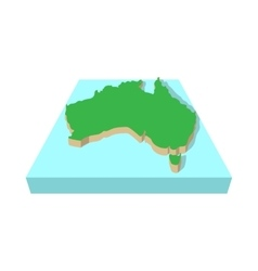 Map of Australia icon cartoon style vector image vector image