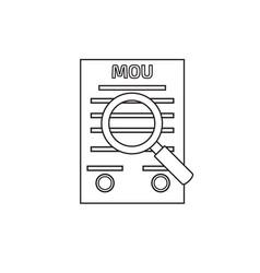 Memorandum of understanding mou icon vector