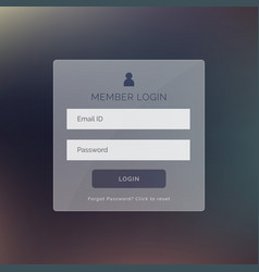 modern login form ui design for website and vector image