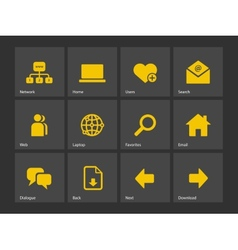 Network icons vector image