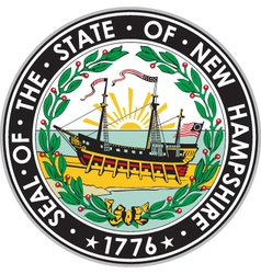 New Hampshire Seal vector image vector image