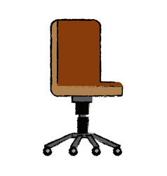 office chair wheel comfort furniture vector image