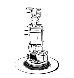 Old vacuum cleaner vector