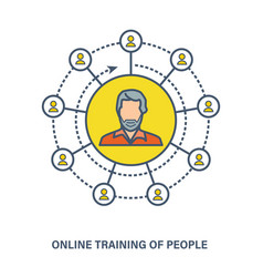 Online training of people - knowledge courses vector