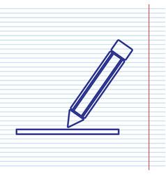 Pencil sign navy line icon vector