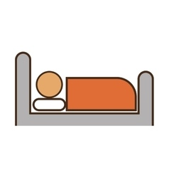 person sleep hotel service vector image