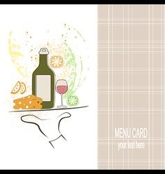 Restaurant menu vector image vector image