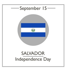 Salvador independence day vector