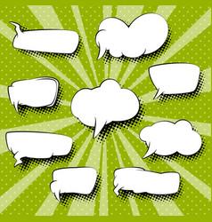 set of speech bubbles retro style vector image vector image