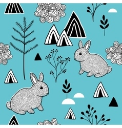 Simple pattern in scandinavian style vector image