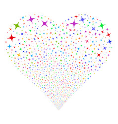 space star fireworks heart vector image