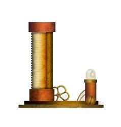 Steampunk letter isolated on white vector image