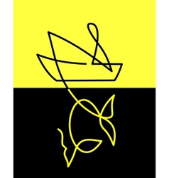 Symbol fishing vector image