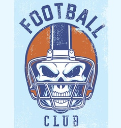 Vintage football club design vector