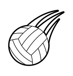 Volleyball ball icon image vector