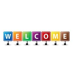 Welcome sign vector image vector image