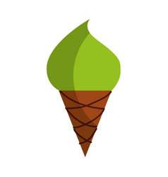Yummy ice cream cone vector