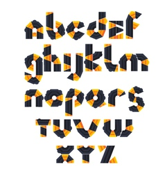 1 alphabet mosaic vector image vector image