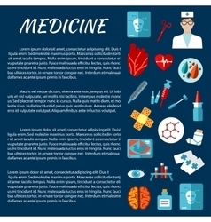 Medicine design template with first aid symbols vector
