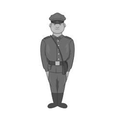 Soldiers in uniform with bag icon vector