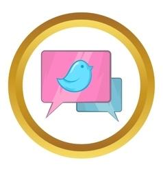 Bird on a speech bubble icon vector