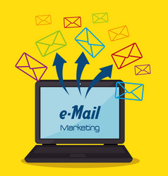 electronic mail marketing icon vector image