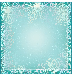 Winter background with ornamental snowflakes vector