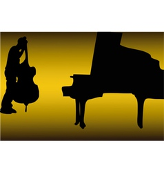 Piano and bass vector