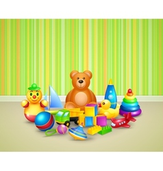 Play room background vector