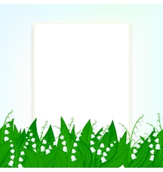 Spring card background with lily of the valley vector