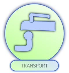 Icons and symbols of car parts - transport vector