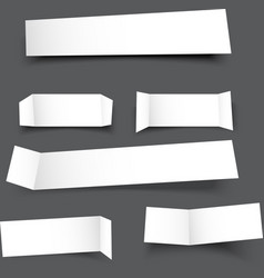 white paper banner round corner with drop shadows vector image