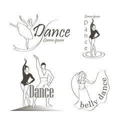 Set of dancing emblems vector image