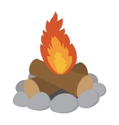 Campfire cartoon icon vector