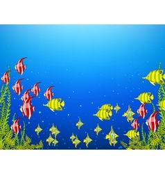 Ocean underwater world vector