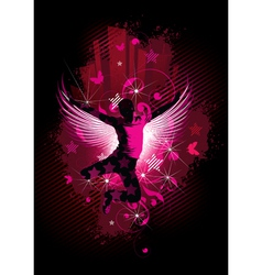man with wings vector image