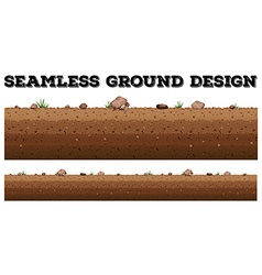 Seamless ground surface design vector