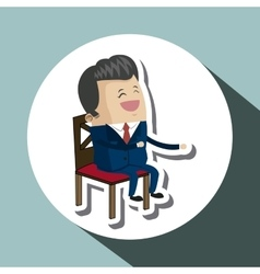 Office chair design seat icon furniture concept vector