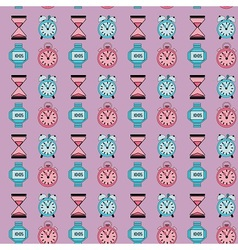 Retro clocks pattern vector image