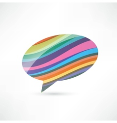 abstract talking bubble vector image vector image
