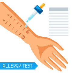 allergy test for medical vector image vector image