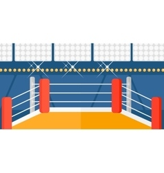 Background of boxing ring vector